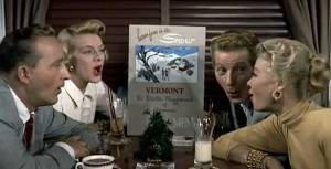 Bing Crosby, Rosemary Clooney, Danny Kaye, and Vera Ellenin White Christmas