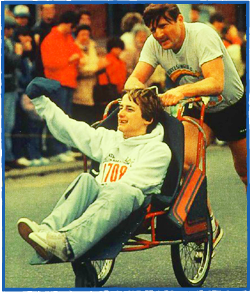 Team Hoyt in their first Boston Marathon (1981)www.teamhoyt.com