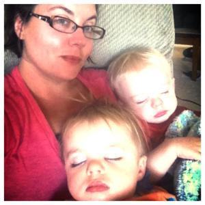 My beautiful sister-in-law and my angelic sleeping nephews!!!