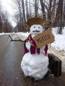 Snowman to Mexico